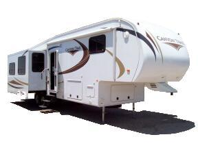 door side view of Canyon Trail fifth wheel