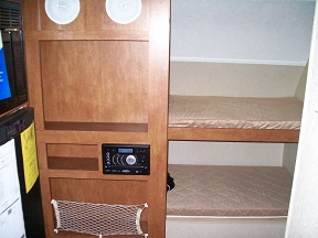 Entertainment center and bunk beds