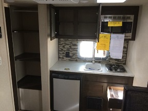 Expansive kitchen for a small trailer