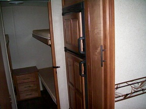 Refrigerator and bunkbeds