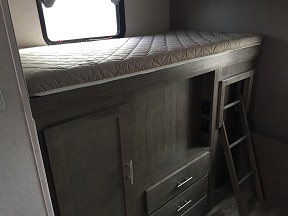 3rd bunk over outside kitchen